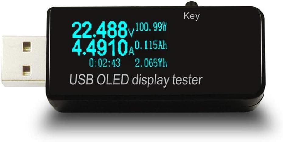 Usb Voltage Tester Voltmeter Ammeter Power Tester Lcd Oled Display Baumarkt