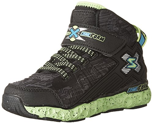 Skechers Boys' Cosmic Foam Sneaker Blk/Lime 3 M - Shopping Ny Soho