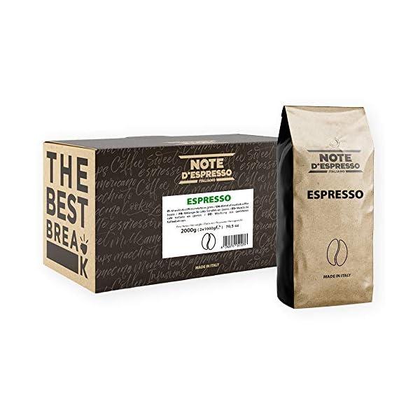 Note D'Espresso – Café expreso en grano, 1kg (caja con 2 paquetes) 51fDCm6b8fL