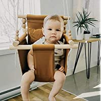 Indoor Nutmeg fabric baby and toddler swing