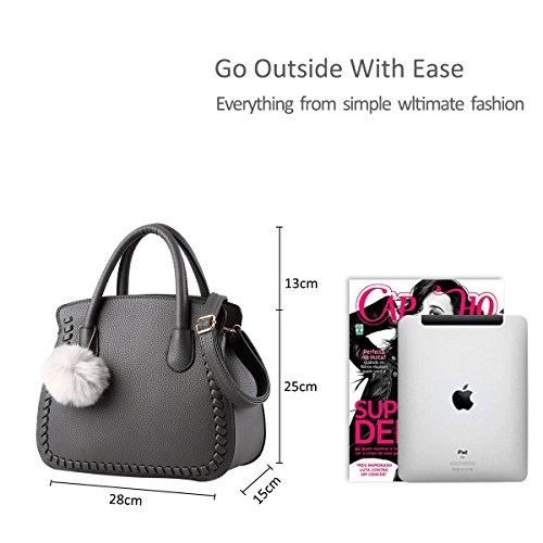 bag female handbags amp;Doris handbags Nicole purse handbag ladies Red female women PU Senior Dark Grey W0YZA4ZT