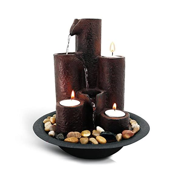 SereneLife-Desktop-Waterfall-Fountain-3-Tier-Cascading-Tabletop-Water-Decoration-Indoor-Outdoor-Patio-or-Garden-Use-3-Candles-and-River-Rocks-Included
