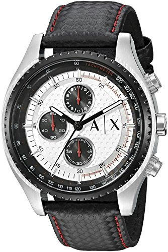 Armani-Exchange-Mens-AX1611-Black-Leather-Watch