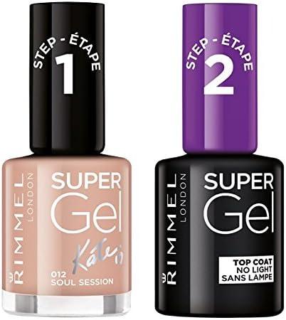Rimmel Super Gel Esmalte de Uñas Duo Pack, Número 12 Sesión de Soul, Nude: Amazon.es: Belleza