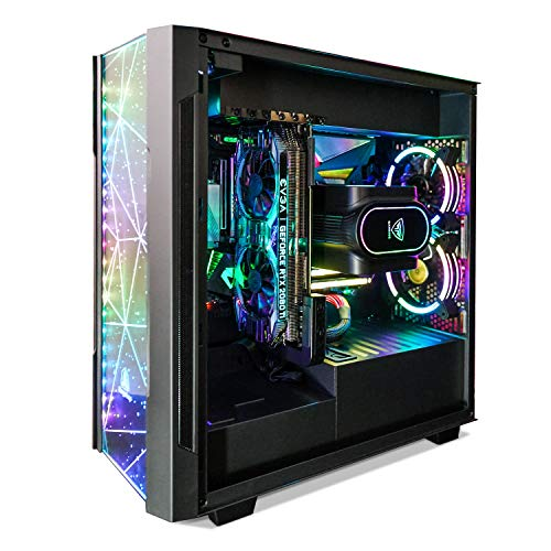 Segotep Phoenix ATX Black Mid Tower PC Gaming Computer Case USB 3.0 Ports/Graphics Card Vertical Mounting with Tempered Glass & RGB Front Panel (PC Case ONLY)