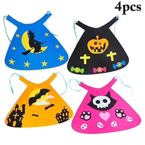 FunPa 4PCS Halloween Cape Creative DIY Cute Assorted Costume Cloak for Kids