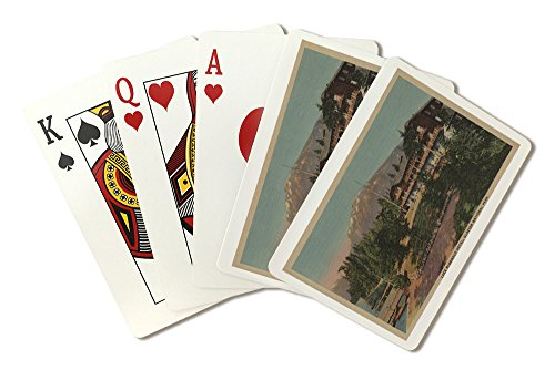 - Glacier National Park, MT - Lake McDonald Hotel View (Playing Card Deck - 52 Card Poker Size with Jokers)