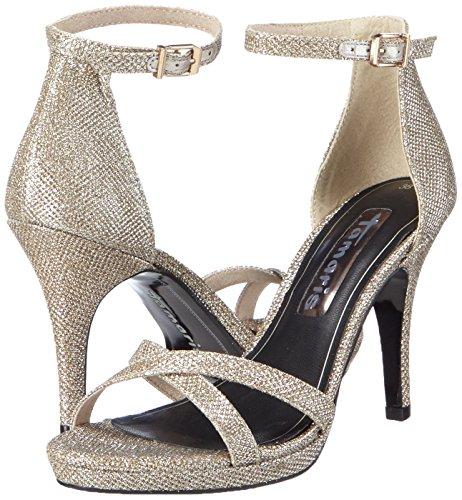 Tamaris Ankle Women's Glam 28303 platinum 970 Sandals Strap Silver SErSZBqz