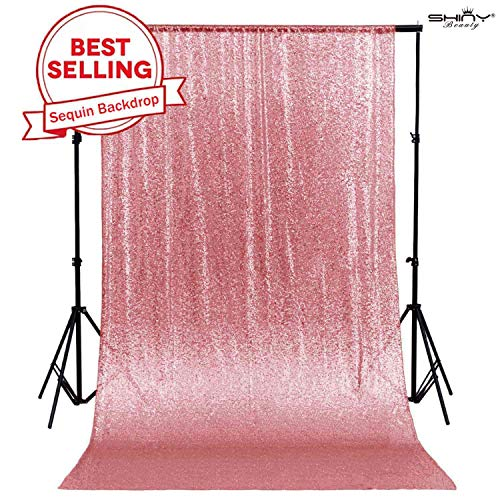 4FTx7FT Sequin backdrops,Fuchsia Pink Sequin Photo Booth Backdrop, Party backdrops, Wedding backdrops, Sparkling backdrops, Christmas Decoration (Fuchsia Pink) (Pink Glitter Curtains)