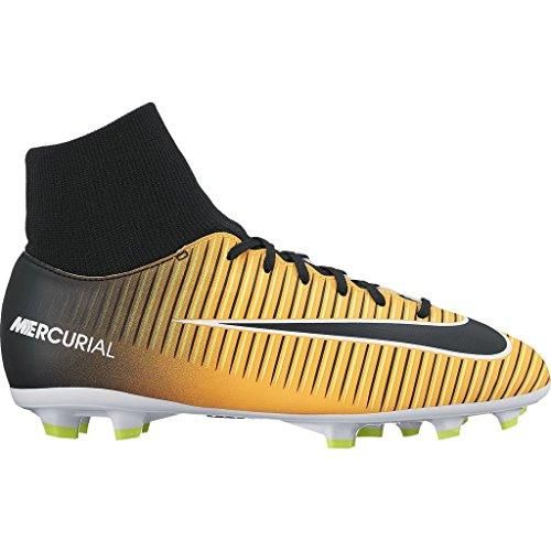 Nike JR Mercurial Victory VI DF FG Mens Soccer-Shoes 903600-801_4Y - Laser Orange/Black-White-Volt (Nike Soccer Victory Shoes)