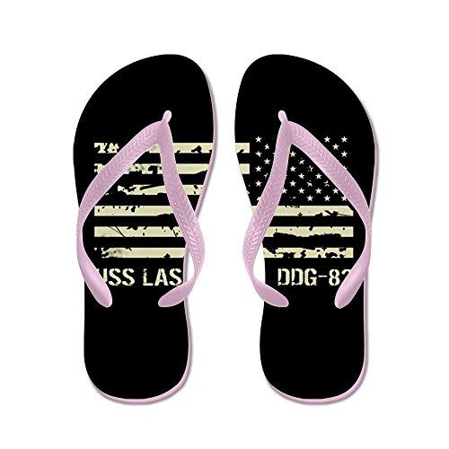 Cafepress Uss Lassen - Flip Flops, Grappige String Sandalen, Strand Sandalen Roze