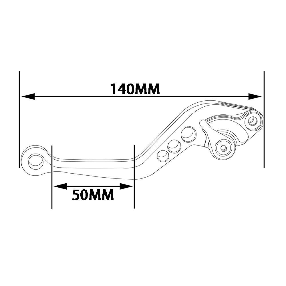Fast Pro Moto Leve Freno Leva Frizione Set Sinistra Destra per Buell Ulysses XB12/x T XB12/x Ulisse XB12/XB9/Tutti i Modelli