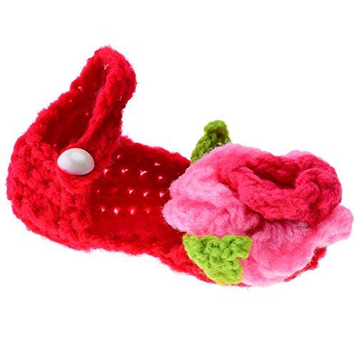 Tankerstreet Weave crochet Shoes Booties mano lavorato a maglia calze adorabile Cartoon Flower Style, scarpe da bambina all' uncinetto, culla, sandali per neonato Baby Shower Craft regalo fatto a mano