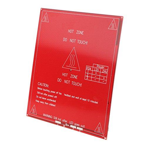 Baoblaze 12V 24V HeatBed Impresora 3D MK2A Calentamiento Cama Placa Caliente - Rojo