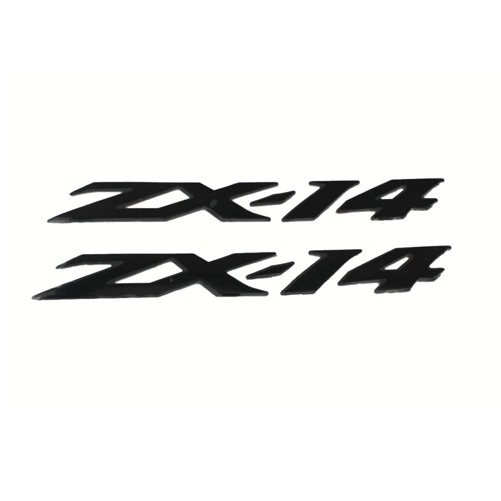 PRO-KODASKIN Motorcycle 3D Raise ZX-14 Emblem Sticker Decal for Kawasaki ZX-14R ZZR1400 (Black)