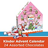 kinder christmas advent calendar, pink, 24 count assorted chocolates, 182 grams