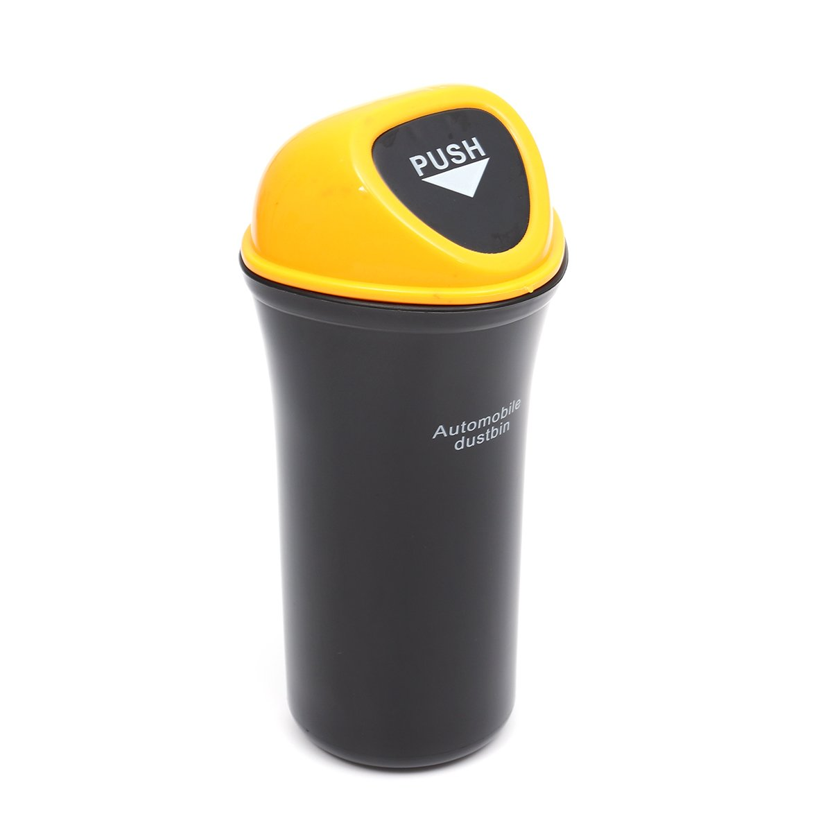 LIOOBO Car Mini Trash Can with Lid and Hook Garbage Dust Rubbish Bin Leakproof Hanging Storage Box Holder for Car