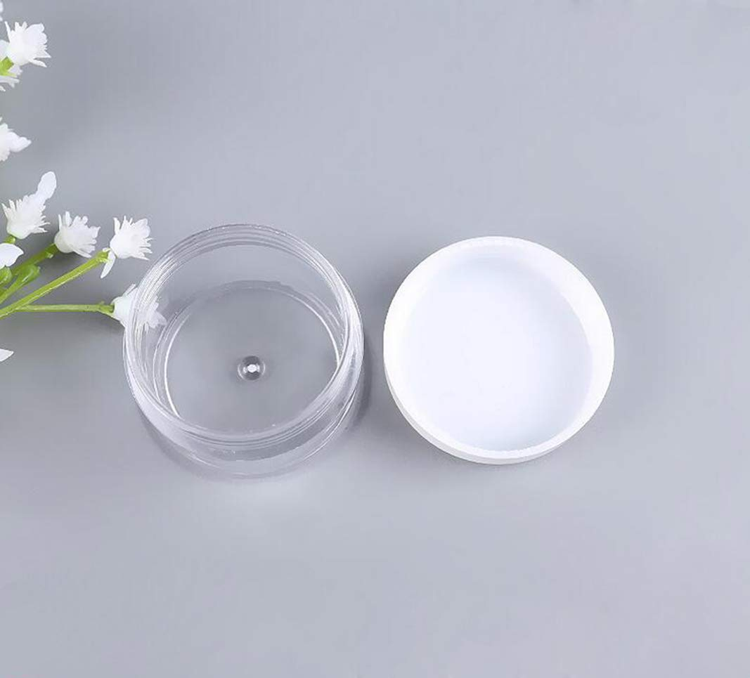 Lot de 25 pots de recharge vides en plastique transparent 15 g//ml