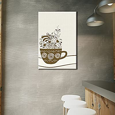 Cup of Coffee with Floral Pattern 32
