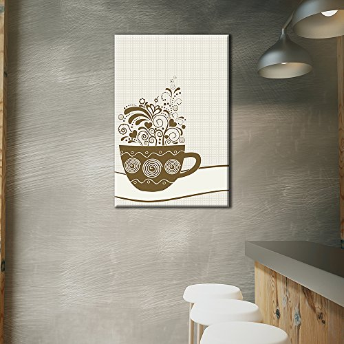 Cup of Coffee with Floral Pattern