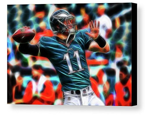 Framed Philadelphia Eagles Carson Wentz Magical 9X11 Art Print Limited Edition with Signed COA