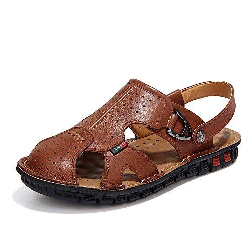 der benutzen Sandelholze handgenähte Lederne Braun Koreanische Weiche Neuen Schuhe XIAOQI Schuhe Strand Doppelt Männer Wildleder Flut Lederne xPqvBwPI