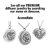 AromaRain Teardrop Diffuser Necklace With Cross