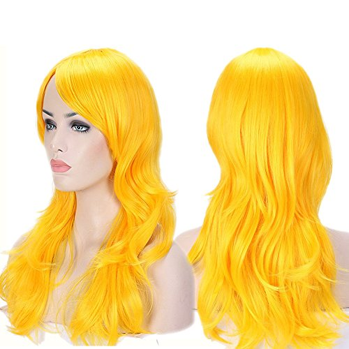 Anime Cosplay Wigs Big Wave Wig Layered with Bangs and Cap Wigs for Women -