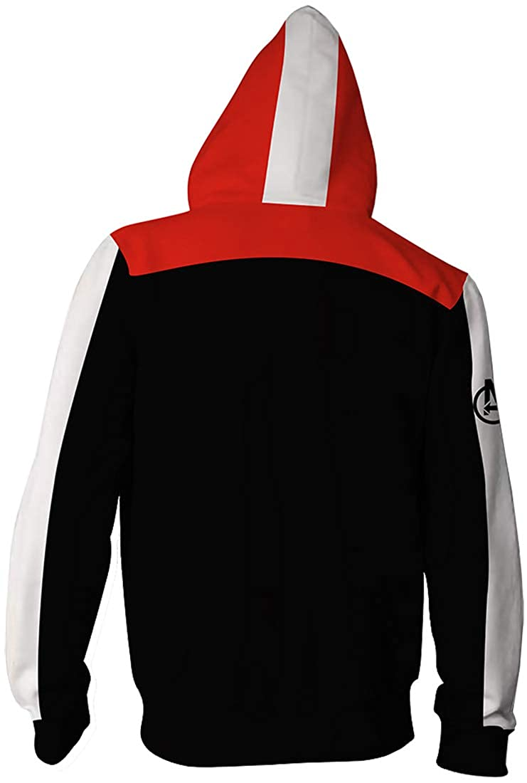 FLYCHEN Gar/çon Sweat-Shirts /à Capuche Quantum Realm Avengers Endgame Superhero Zipper Cosplay Sweats
