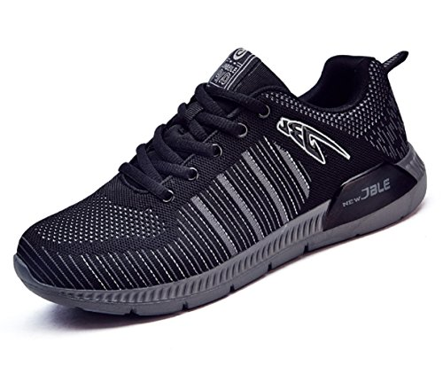 HOOH Lightweight Absorption Shock Sports 8 Black Running D Low By Men's 5 Top US M Shoes Leisure Sneakers EWqxxSnf