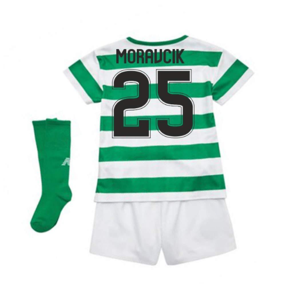 UKSoccershop 2018-2019 Celtic Home Little Boys Mini Kit (Lubo Moravcik 25)