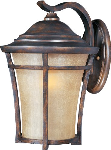 Frost Incandescent Sconce - Maxim 40165GFCO Balboa VX 1-Light Outdoor Wall Lantern, Copper Oxide Finish, Golden Frost Glass, MB Incandescent Incandescent Bulb , 100W Max., Dry Safety Rating, Standard Dimmable, Glass Shade Material, 5750 Rated Lumens