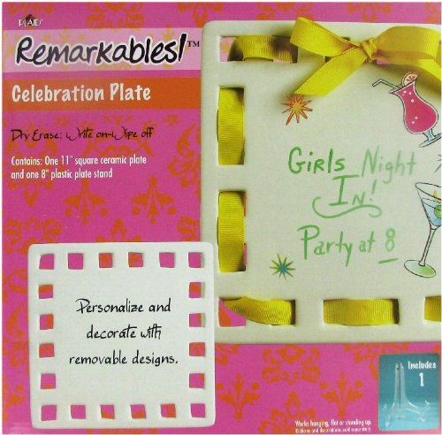 Personalized 11 Inch Square Ceramic Celebration Plate