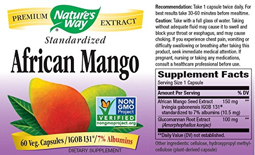 Nature's Way African Mango -- 60 Vcaps Pack of 3