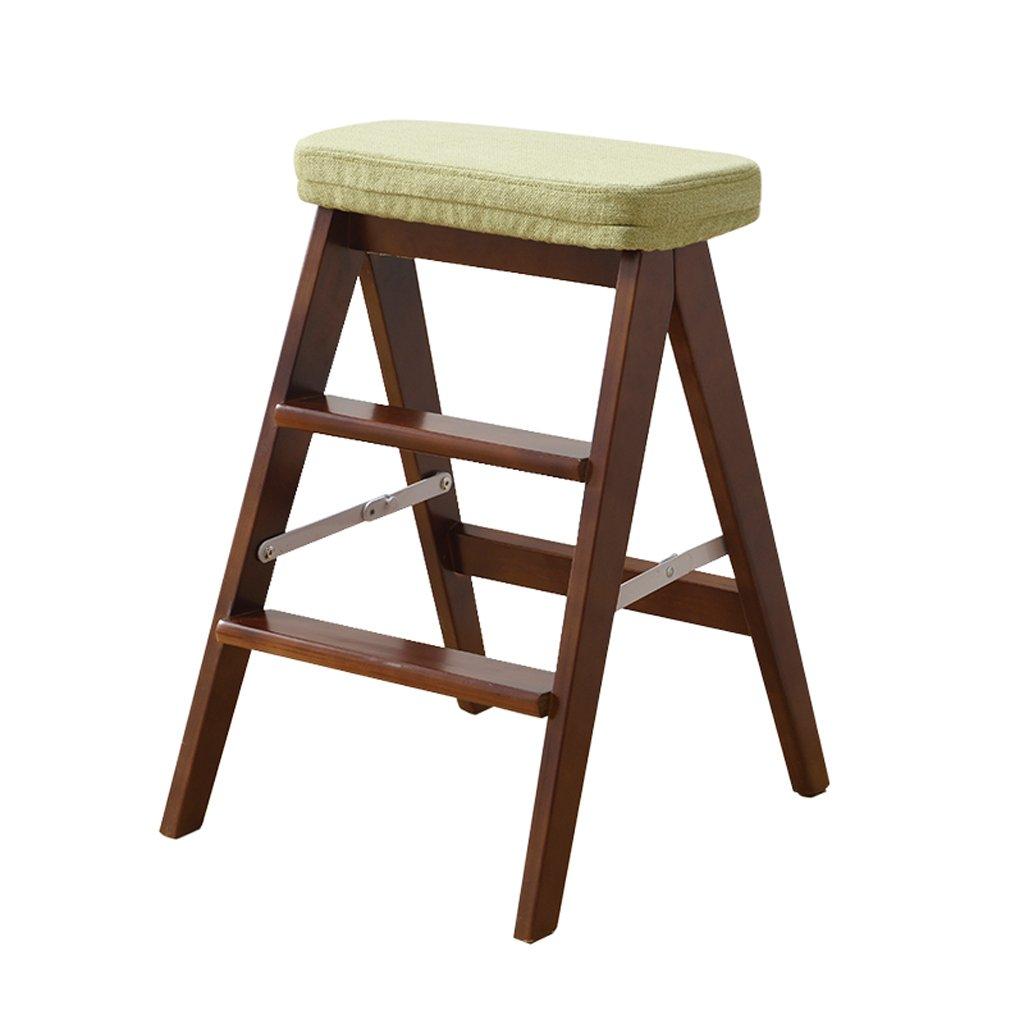 Klappstuhl Massivholz Home Leiter Hocker einfach und modern Portable Multifunktionsküche hoher Hocker (Farbe   F, größe   42  48  64cm)