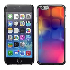 Paccase / SLIM PC / Aliminium Casa Carcasa Funda Case Cover para - Purple Orange Purple Polygon - Apple Iphone 6