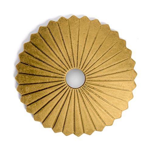 Tall Brass Backplate - CBH Radial Brass Hardware Backplate Washers 1-1/2
