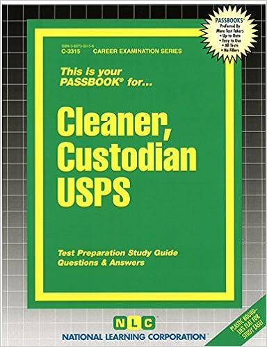 Cleaner Custodian USPS Passbooks Career Examination