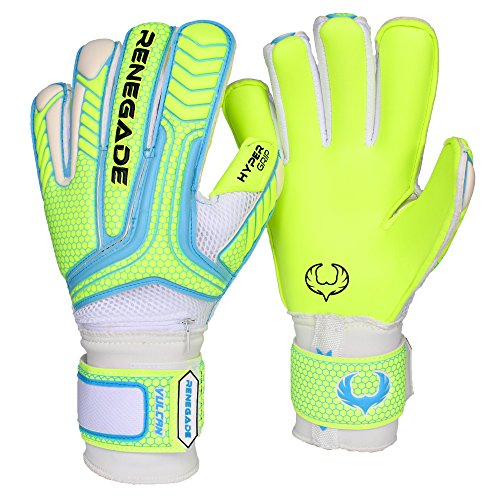 Girls Elite Glove (R-GK Vulcan Surge Hybrid Cut (Size 7) Goalkeeping Gloves with Pro Fingersaves - Improve Confidence & Performance with Padded GK Gloves - Outdoor or Indoor Soccer - Adult, Youth, Kids)