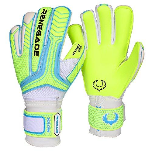 R- GK Vulcan Surge Hybrid Cut (Size 8) Soccer Goalie Gloves Youth & Adult with Pro Fingersaves - Improve Goal Blocking - Latest Soccer Goalie Equipment - Men, Women, Boys, Girls, Youth, Jr