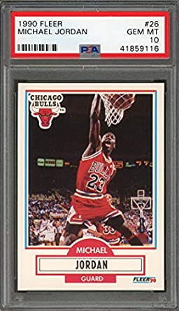 cdcdb96915d1b Amazon.com: Michael Jordan PSA GRADED 10 (Basketball Card) 1990-91 ...