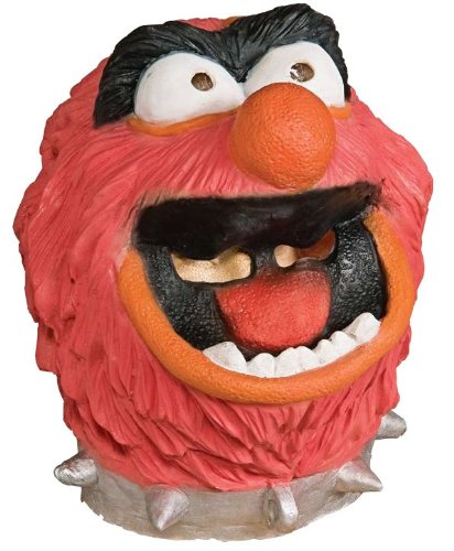 Muppets Animal Costume (The Muppets Animal Deluxe Overhead Latex Mask Adult, Standard, Orange)