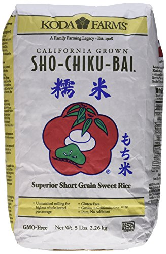 Koda Farms Sho-Chiku-Bai (Premium Sweet Rice) - 5lbs by Koda Farms