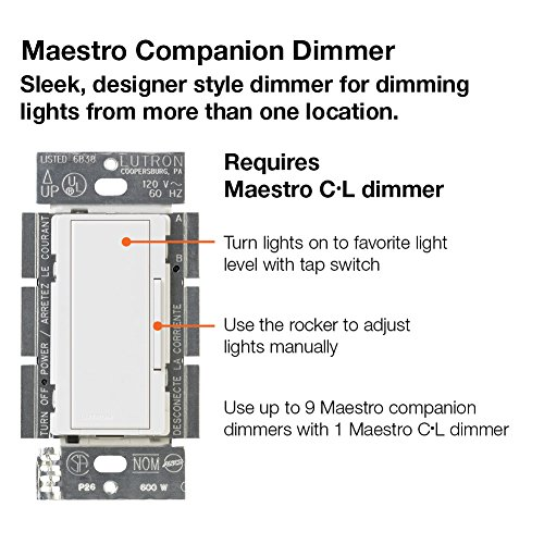 lutron maestro c l dimmer kit for dimmable led  halogen