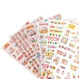 EVER OASIS Lovely Cat Kitten Kitty Stickers, Super Cute Small Assorted Stickers Pack for Diary Scrap Book Kids Craft Cartoon Scrapbooking Album Décor Decoration, Korean School Office Stationery