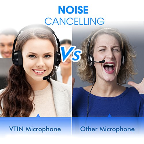 Vtin Headset with Microphone, USB Headset/3.5mm Computer Headphone Headset Noise Cancelling and Hands-Free with Mic, Stereo On-Ear Wired Business Headset for Skype, Call Center, PC, Phone, Mac by Vtin (Image #1)'