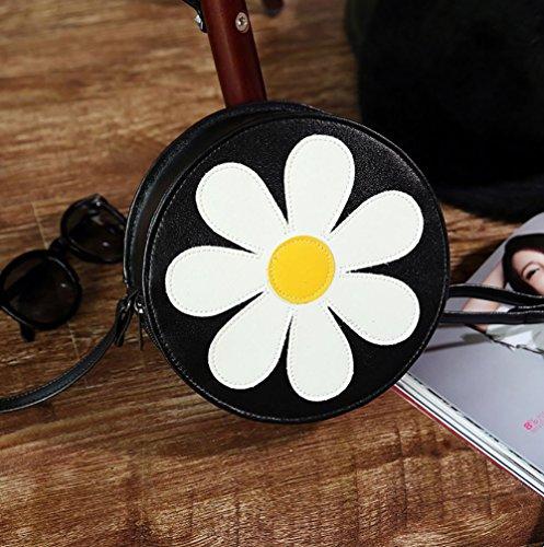 1 Cross Women's Shoulder Style Body Vintage Leather PU QZUnique Black Bag Soft Fashion px1qwC