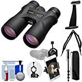 Nikon Prostaff 7S 8x30 ATB Waterproof / Fogproof Binoculars with Case + Harness + Smartphone Adapter + Tripod Adapter + Monopod + Cleaning Kit