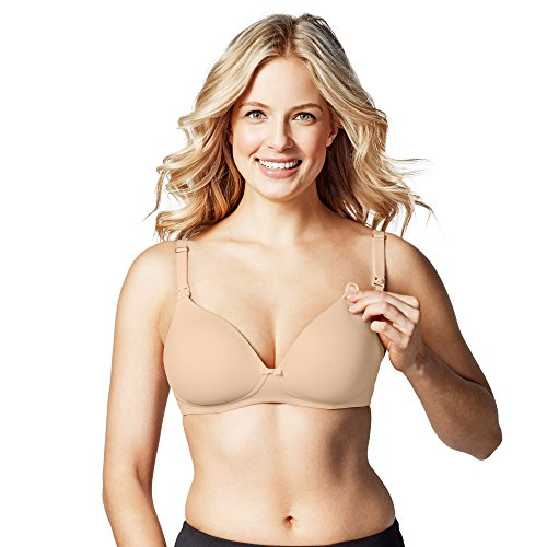BRAVADO! DESIGNS Women's Maternity Buttercup Nursing Bra, Bare, 34D