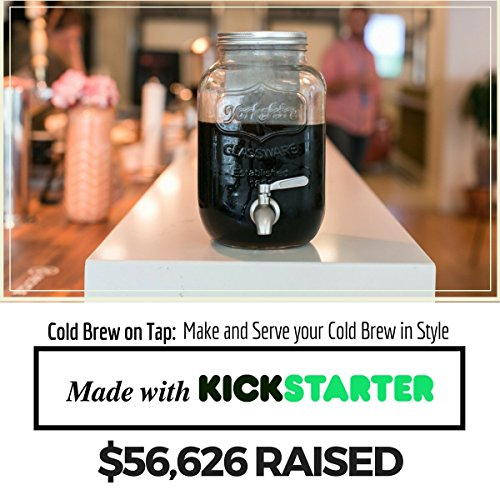 The Original Cold Brew on Tap Cold Brew Coffee Maker - Brewed Iced Coffee Maker - Glass Pitcher Cold Brewer System with Removable Filter (1 Gallon)